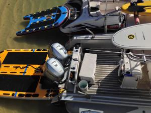 Custom inflatable boat sleds fit your transom
