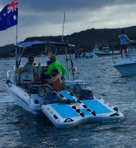 Custom inflatable boat sled