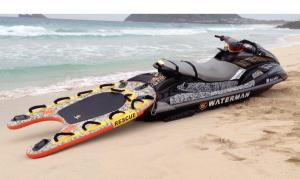 Rescue sled on the beach