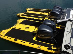 Custom inflatable boat sleds