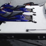 Twin PWC slot inflatable boat sled